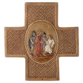 Stations of the cross in stone 22,5cm by Bethleem, 15 stations s1