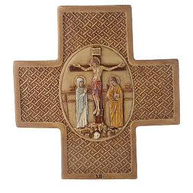 Stations of the cross in stone 22,5cm by Bethleem, 15 stations s12