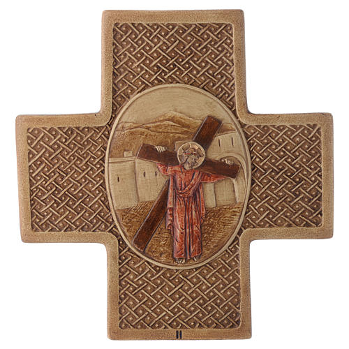 Stations of the cross in stone 22,5cm by Bethleem, 15 stations 2