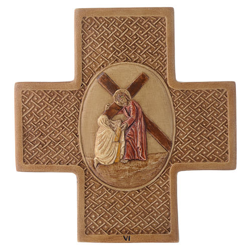Stations of the cross in stone 22,5cm by Bethleem, 15 stations 6