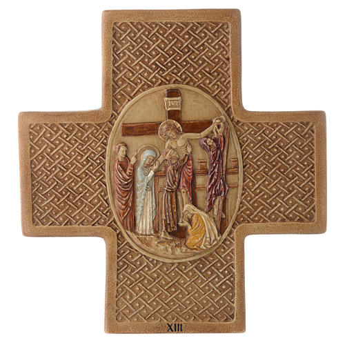 Stations of the cross in stone 22,5cm by Bethleem, 15 stations 13