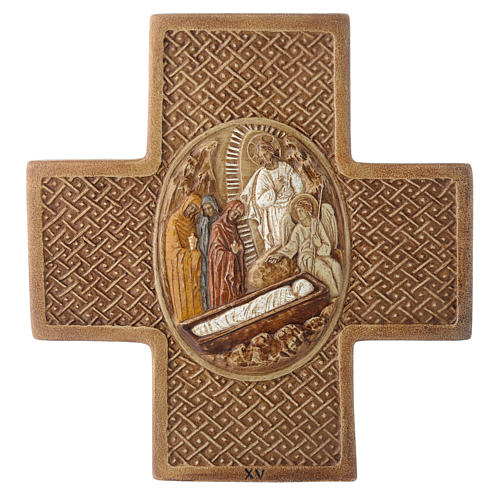 Stations of the cross in stone 22,5cm by Bethleem, 15 stations 16