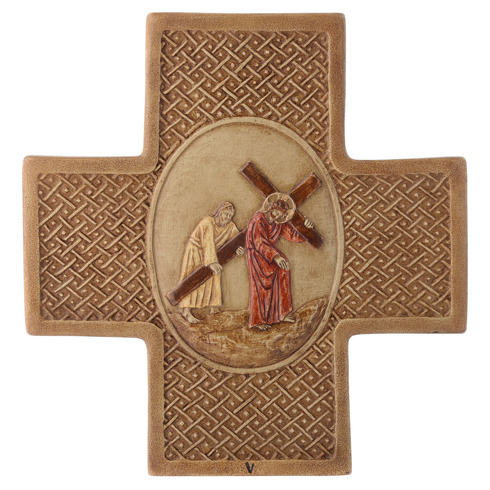 Vía Crucis 15 estaciones de piedra 22,5cm Bethléem 4
