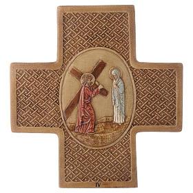 Vía Crucis 15 estaciones de piedra 22,5cm Bethléem s4