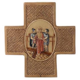 Vía Crucis 15 estaciones de piedra 22,5cm Bethléem s10