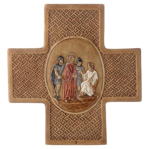 Vía Crucis 15 estaciones de piedra 22,5cm Bethléem 1