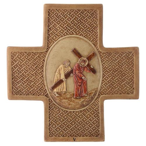 Vía Crucis 15 estaciones de piedra 22,5cm Bethléem 5
