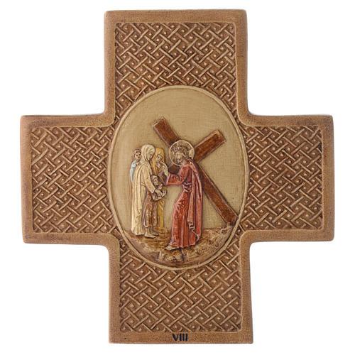 Vía Crucis 15 estaciones de piedra 22,5cm Bethléem 8