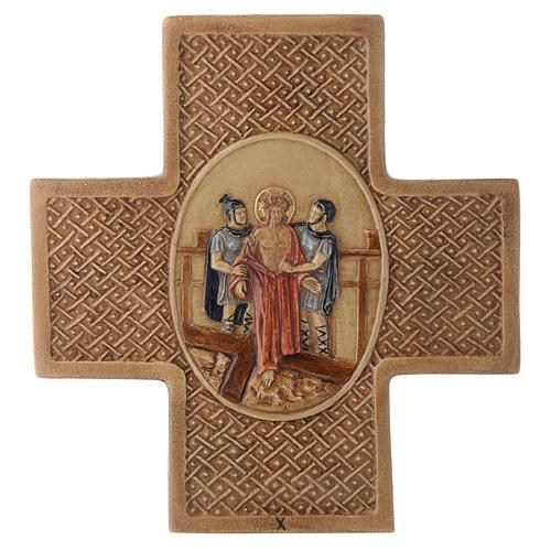 Vía Crucis 15 estaciones de piedra 22,5cm Bethléem 10