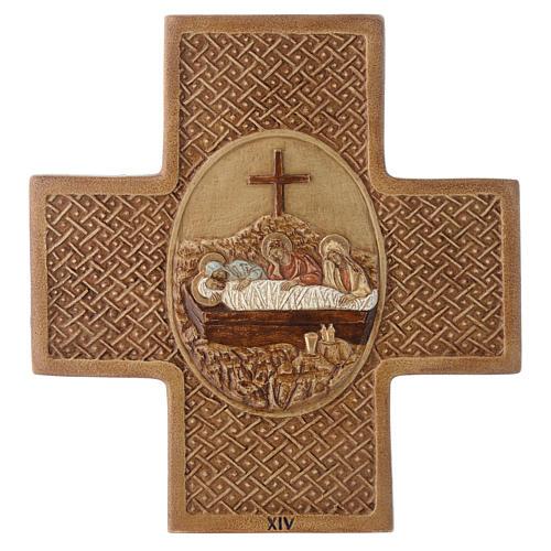 Chemin de croix 15 stations 22,5 cm pierre Bethléem 14