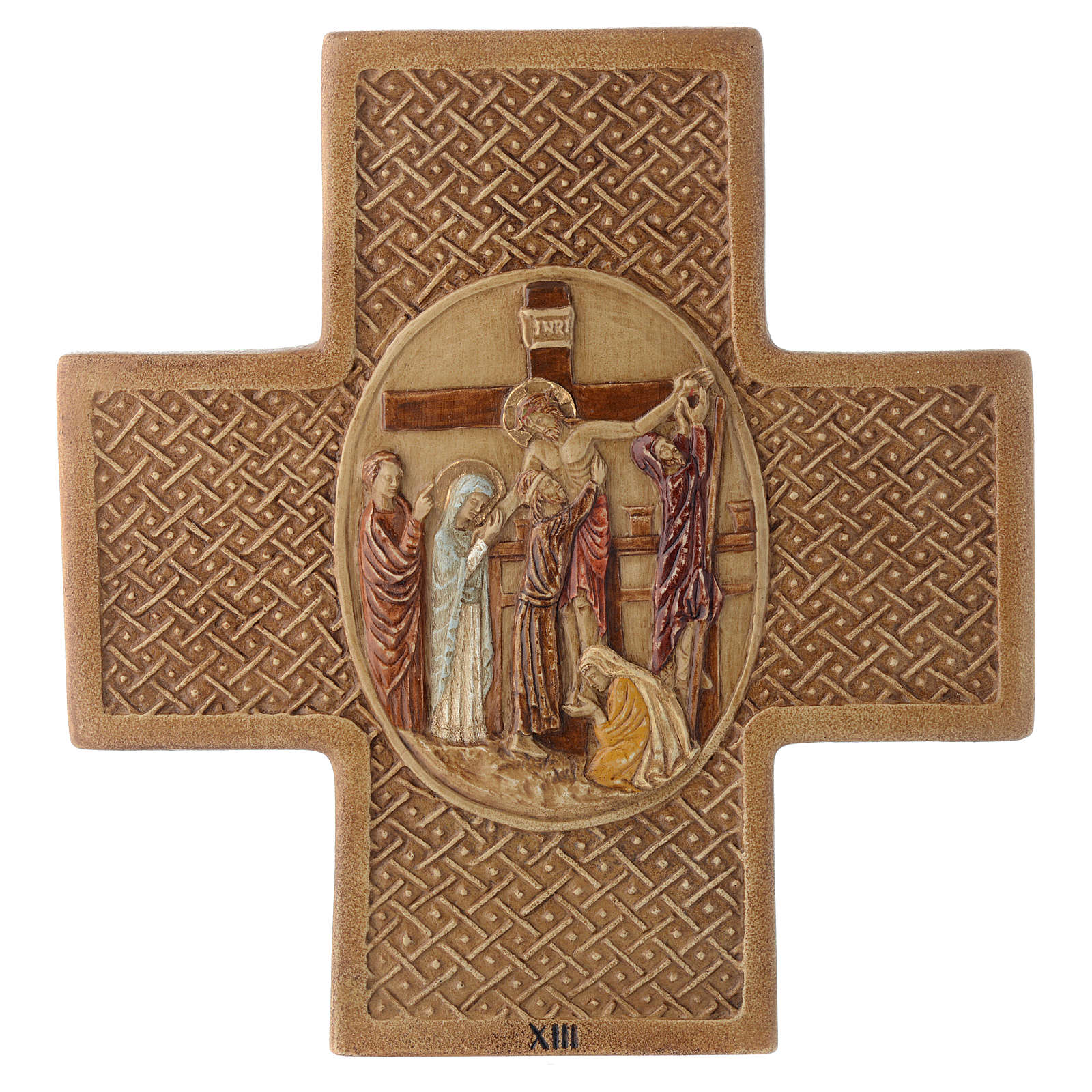 Via Crucis 15 stazioni pietra Bethléem 22,5 cm 4