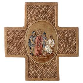 Via Crucis 15 stazioni pietra Bethléem 22,5 cm s1