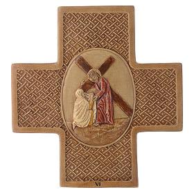 Via Crucis 15 stazioni pietra Bethléem 22,5 cm s6
