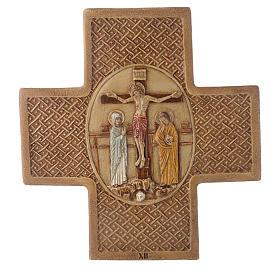 Via Crucis 15 stazioni pietra Bethléem 22,5 cm s12
