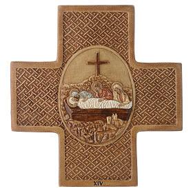 Via Crucis 15 stazioni pietra Bethléem 22,5 cm s14