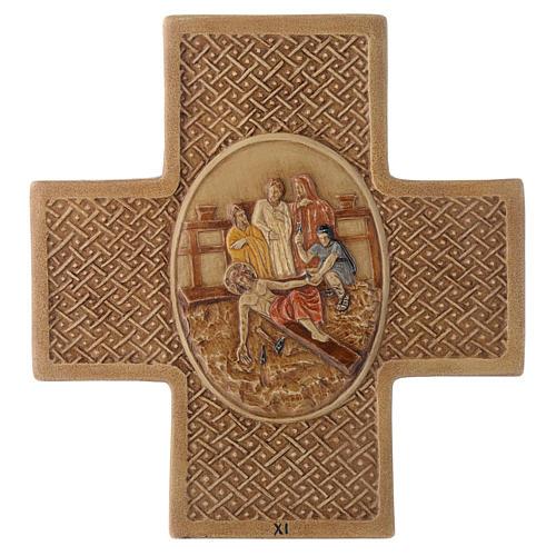 Via Crucis 15 stazioni pietra Bethléem 22,5 cm 11