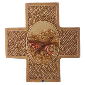 Stations of the cross in stone 22.5cm by Bethleem, 15 stations s9
