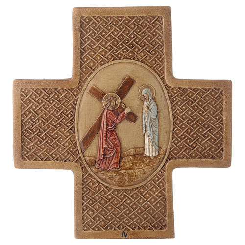 Stations of the cross in stone 22.5cm by Bethleem, 15 stations 4