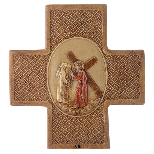 Stations of the cross in stone 22.5cm by Bethleem, 15 stations 8
