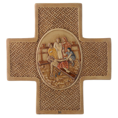Stations of the cross in stone 22.5cm by Bethleem, 15 stations 11