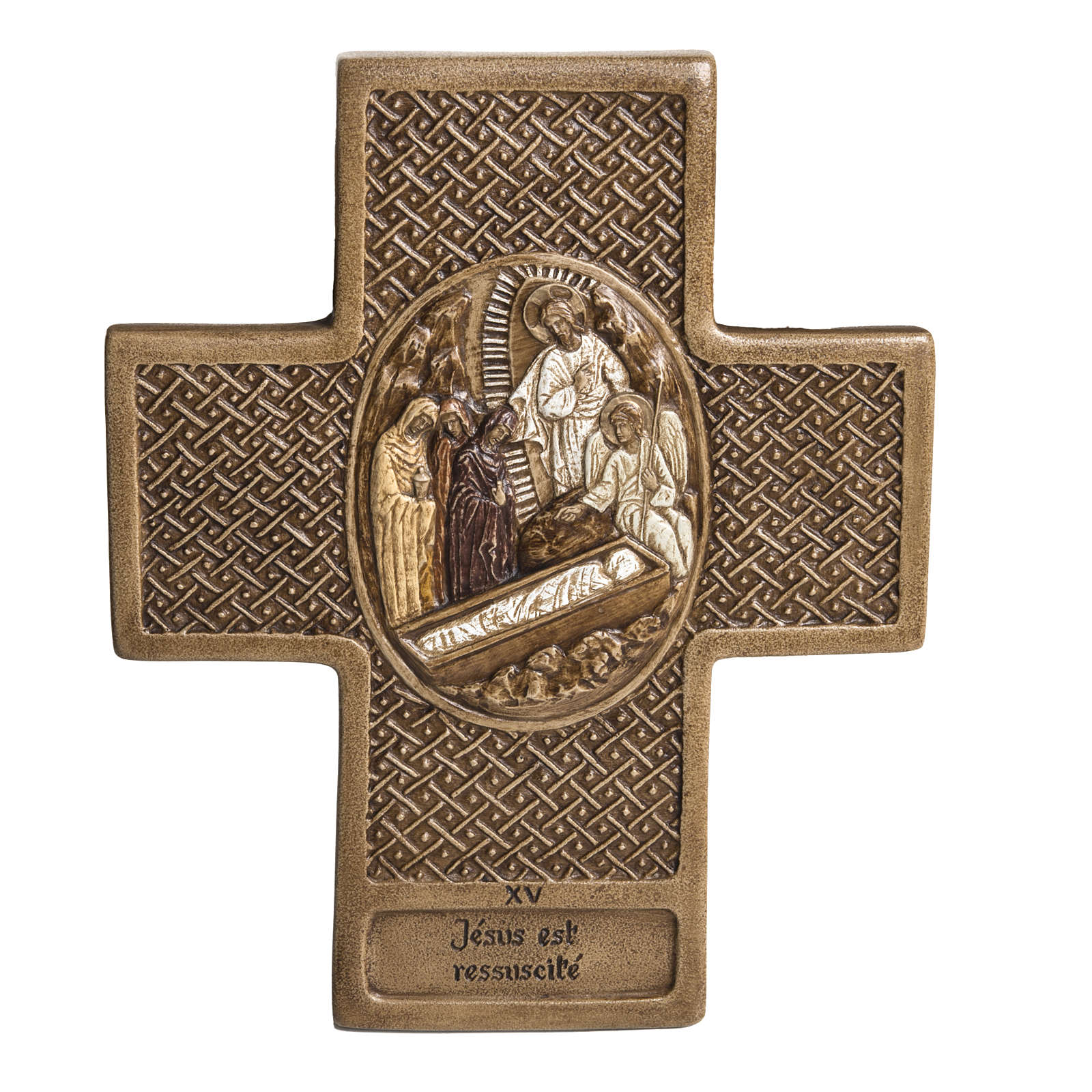 Vía Crucis 15 estaciones de 27cm piedra Bethléem 4