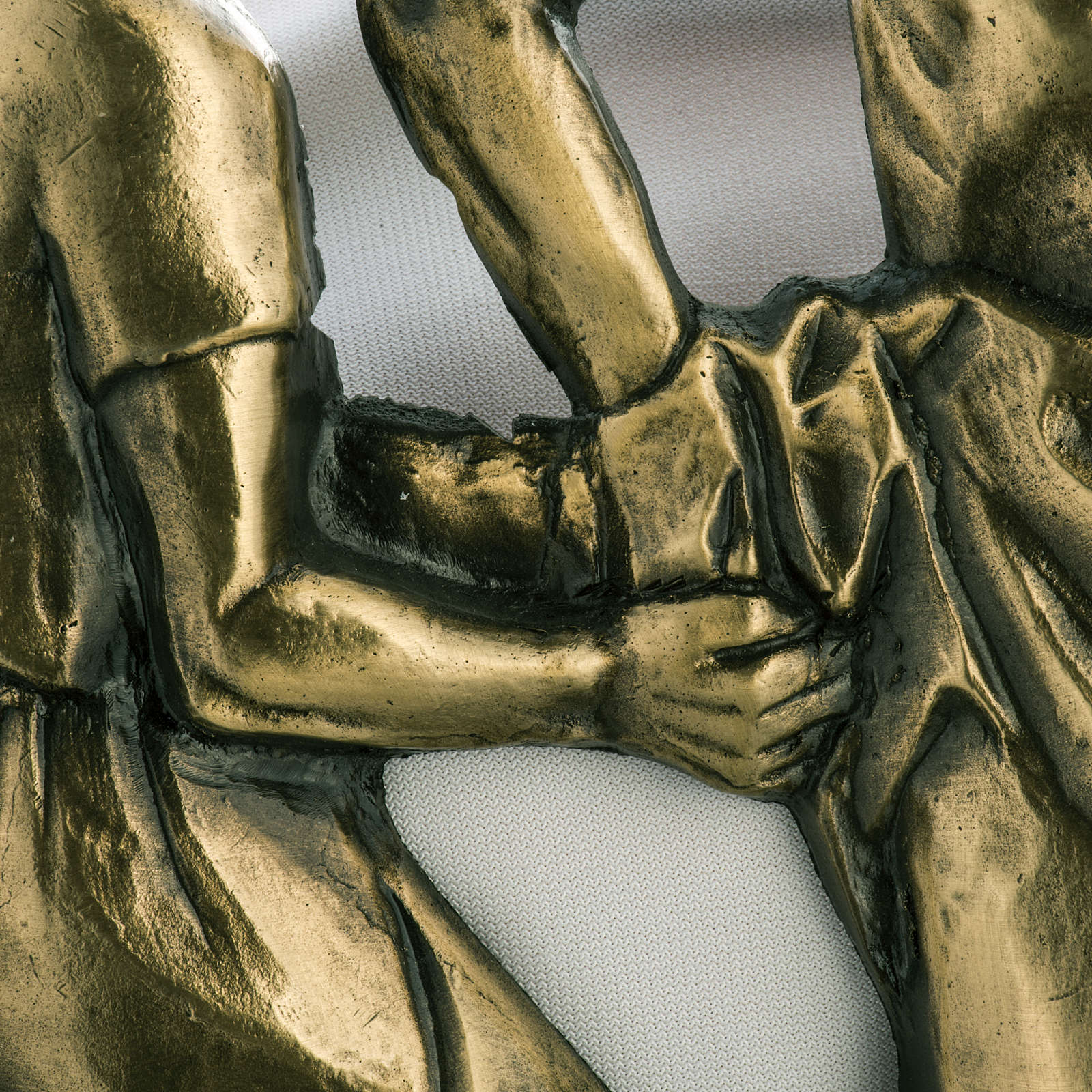 Way of the cross in brass with capital, 30x50cm 4