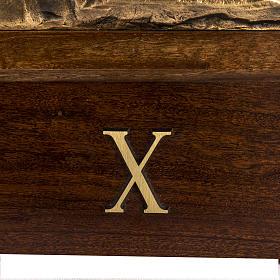Via Crucis ottone fuso 30x50 cm con capitello - 15 stazioni s5