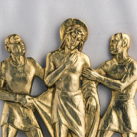Way of the cross in brass, 17x20cm s2