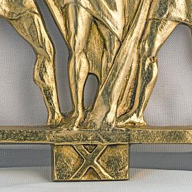 Way of the cross in brass, 17x20cm s3