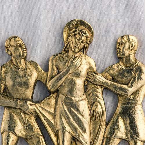 Way of the cross in brass, 17x20cm 2