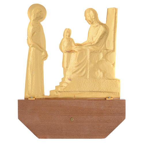 Way of the Cross in brass, 24x30 on capital - 15 stations 3