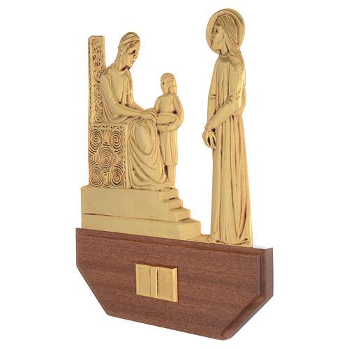 Vía Crucis latón fundido 24x30 cm sobre base 15 es 2