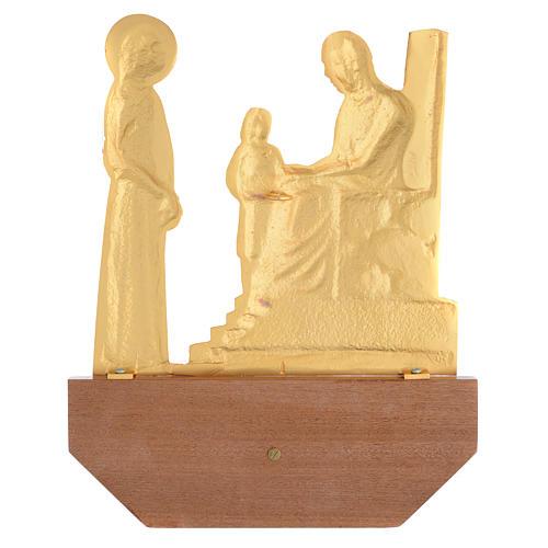 Vía Crucis latón fundido 24x30 cm sobre base 15 es 3