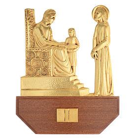 Via Crucis ottone fuso 24x30 cm su capitello - 15 stazioni s1