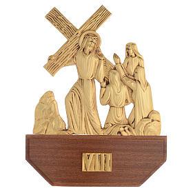 Via Crucis ottone fuso 24x30 cm su capitello - 15 stazioni s10