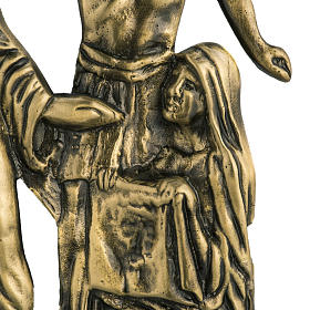 Way of the cross in brass with capital, 24x42cm s4