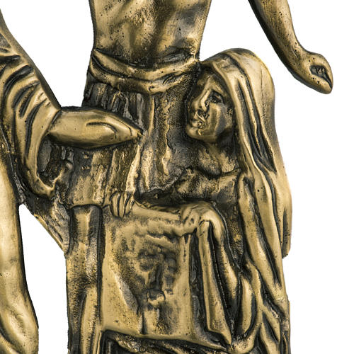 Way of the cross in brass with capital, 24x42cm 4