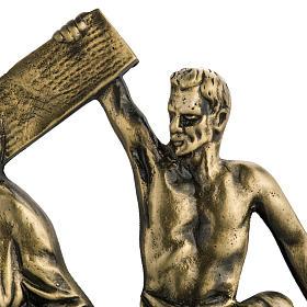 Via Crucis in ottone fuso 24x42 cm su capitello - 15 stazioni s3