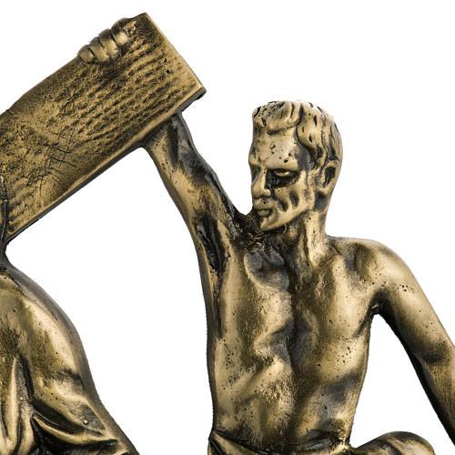 Via Crucis in ottone fuso 24x42 cm su capitello - 15 stazioni 3
