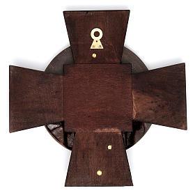 Vía Crucis 14 estaciones latón fundido sobre placa madera s15