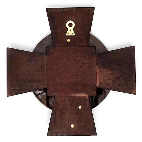 Vía Crucis 14 estaciones latón fundido sobre placa madera 15