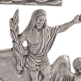 Via Crucis 15 estaciones diseño moderno bronce plateado s2