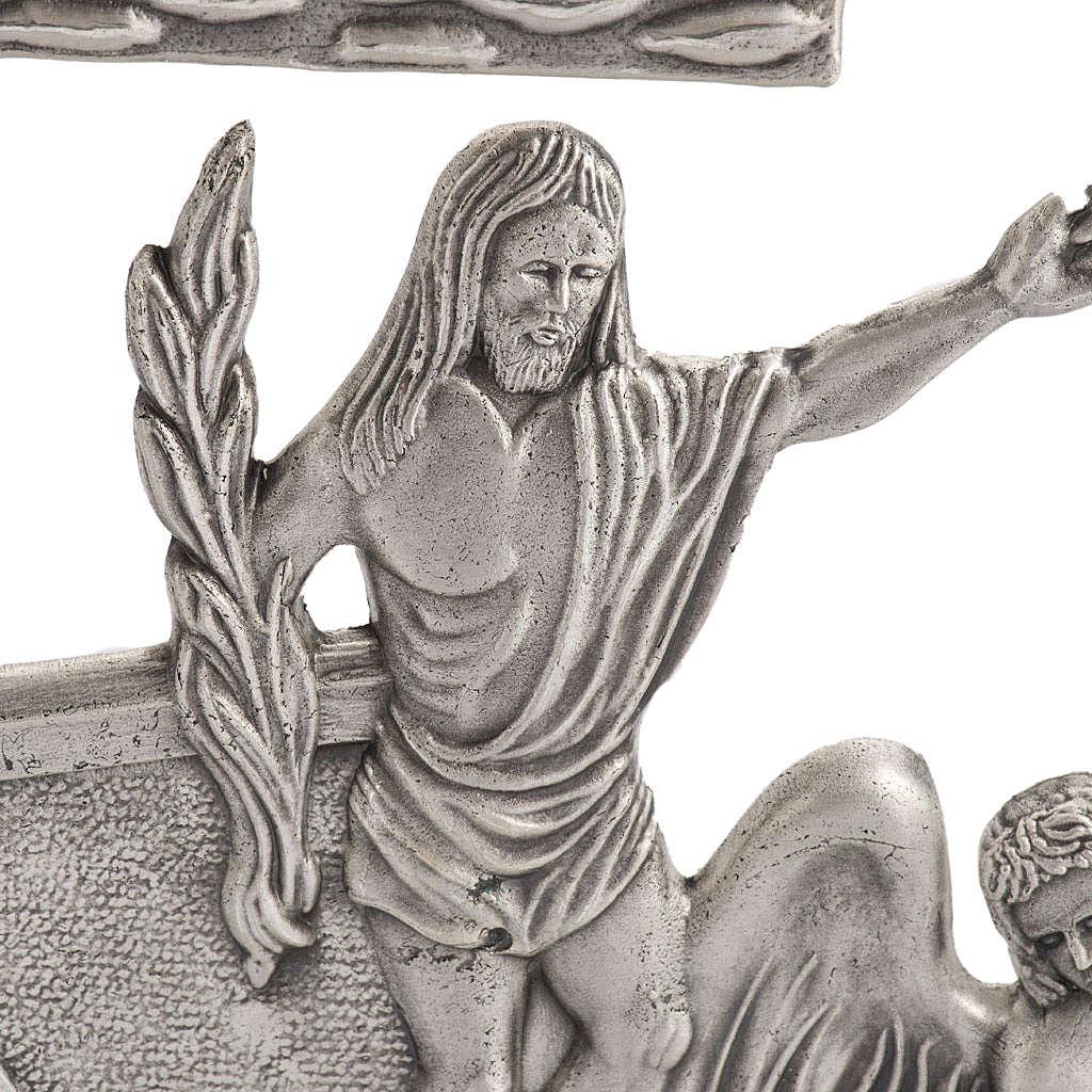 Chemin de Croix 15 stations bronze argenté petite croix 4