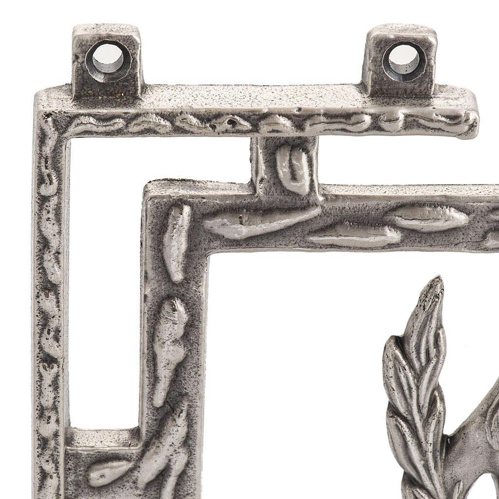 Via Crucis 15 stazioni in bronzo argentato crocetta legno 4