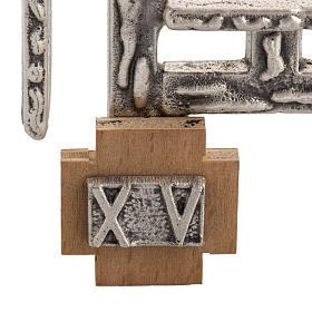 Via Crucis 15 stazioni in bronzo argentato crocetta legno s4