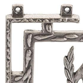 Via Crucis 15 stazioni in bronzo argentato crocetta legno s5