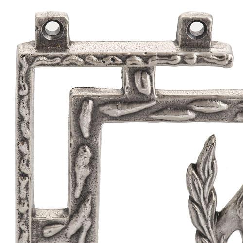 Via Crucis 15 stazioni in bronzo argentato crocetta legno 5