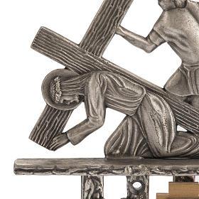 Vía Crucis 15 estaciones estilo moderno bronce plateado s2