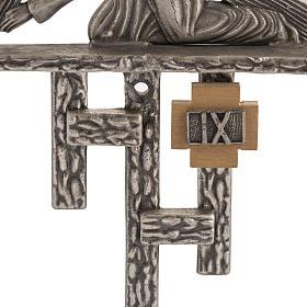 Vía Crucis 15 estaciones estilo moderno bronce plateado s4