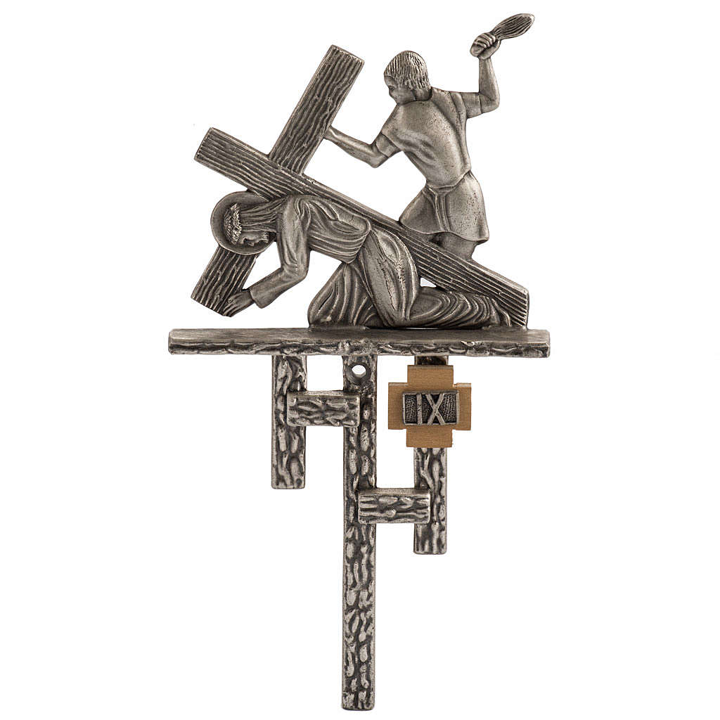 Stations of the Cross in silver plated bronze, 15 stations 4